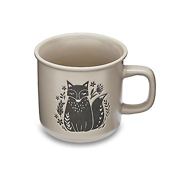 Cooksmart Woodland Lipped Mug, Fox