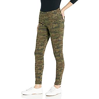 Essentials Women's Skinny Stretch Pull-On Knit Jegging, Olive Camo, XX...
