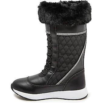 Nautica Women's Everly Cold Weather Snow Boot with Sherpa Fur Collar and Lining