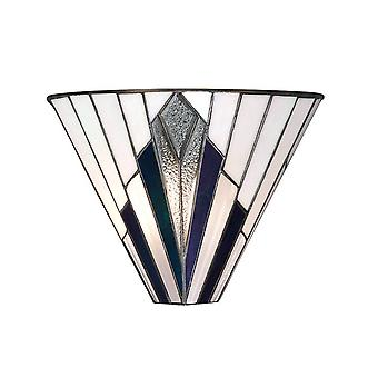 Intérieurs Astoria - 1 Light Indoor Wall Uplighter Tiffany Style Glass, E14