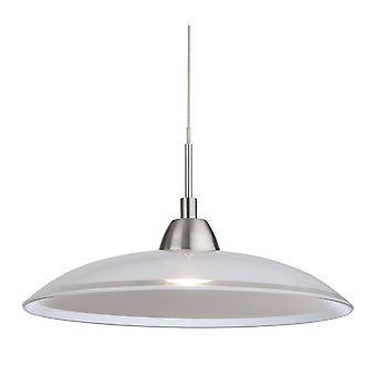 Firstlight Nassau - LED 1 Light Dome Loft Vedhæng Børstet Stål, Glas