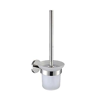 Stainless Steel Wall Mount Toilet Brush Holder Set