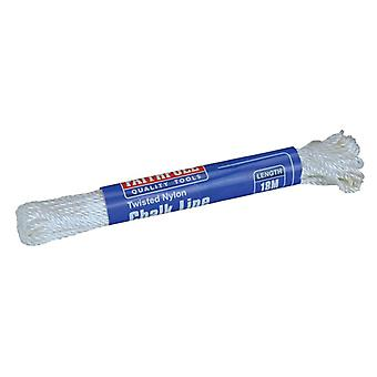 Faithfull 302 Twisted Nylon Chalk Line 18m (Box of 12) FAI302