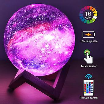 Color Changing And Remote Control 3d Printing Moon Lamp, Night Galaxy Light