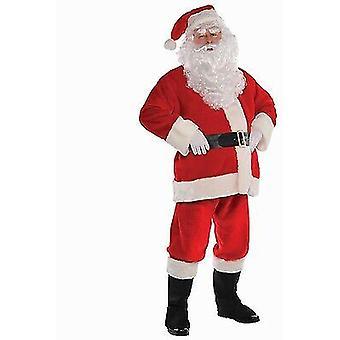 Santa Anzug Plüsch Kostüm Vater Weihnachten Kostüm Erwachsene Herren klein