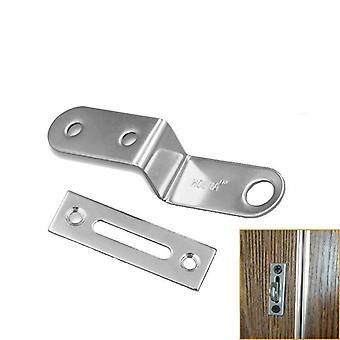 Rostfritt Stål 304, Z-form spänne Med Låshål För Låda/garderob/bord