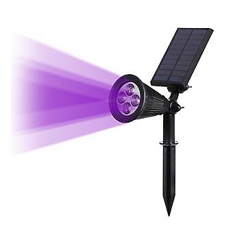Solar Powered 4/7 Led Lamp Adjustable Spotlight In-ground Ip65 Waterproof