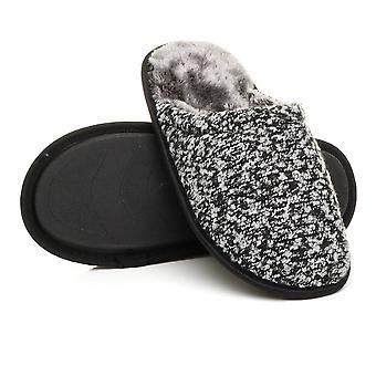Ajvani Мужская плоский зимний мех выстроились памяти пены подарок мулов Тапочки дом обувь
