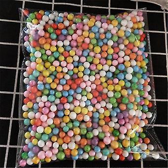 פוליסטירן קלקר פלסטיק קצף מיני חרוזים כדור - צבעים שונים Diy