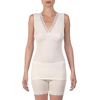 Oscalito 5352-12 Women's Champagne Merino Wool Tank Vest Top