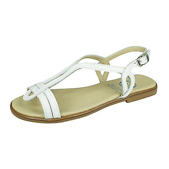 Angela Brown Chloe Toddler Girls Leather Strappy Sandals - Blanc