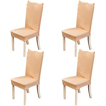 4pcs Stretchable Spandex Chair Covers For Dining Room