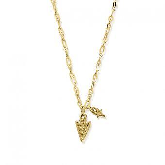 ChloBo Gold Delicate Arrow Head Necklace GNLC4011