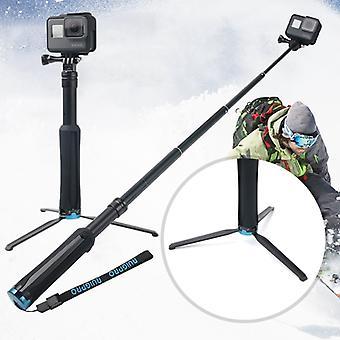 Portable Foldable Tripod Holder Selfie Monopod Stick for GoPro HERO9 Black / HERO8 Black /7 /6 /5 Session /5 /4 Session /4 /3+ /3 /2 /1, Xiaoyi Sport