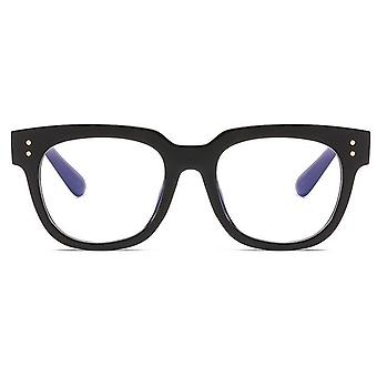 Anti Blue Big Frame Glasses Women Computer Light Blocking Radiation Spectacles