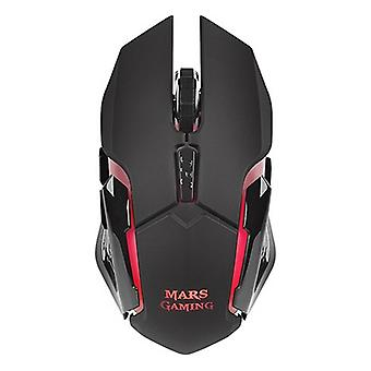 LED Gaming Mouse Mars Gaming MMW 3200 dpi Svart