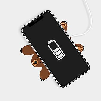Mustard - pete the bear wireless phone charger