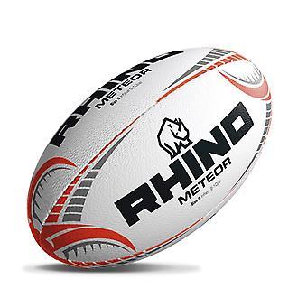Rhino Meteor Match Rugby League Union Spiel Training Ball weiß/Orange -Größe 5