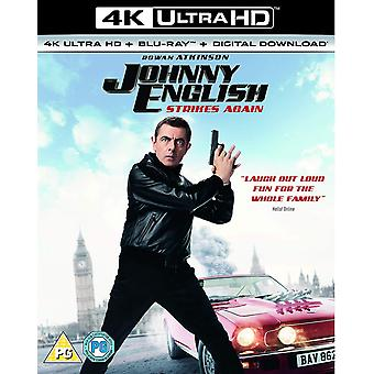 Johnny English Strikes Again 4KUHD Blu-ray Téléchargement numérique