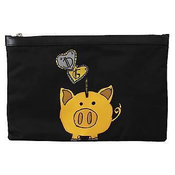 Black Pig of the Year Coin Bank Men Hand Pouch