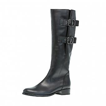 Gabor المملكة الجلود الركبة أحذية عالية في الأسود