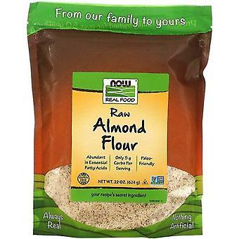 Maintenant aliments, nourriture réelle, farine d'amande crue, 22 oz (624 g)