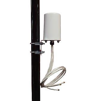 2.4/5 GHz 6 dBi Omni WiFi Antenna 4 RPTNC Plugs