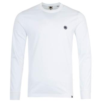 Pretty Green Crinkle Long Sleeve T-Shirt - White
