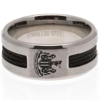 Newcastle United FC musta Inlay Ring