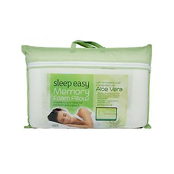 Sueño fácil Aloe Vera Cased Memory Foam Pillow - Firme