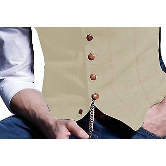 Plaid Wool Herringbone Tweed Waistcoat