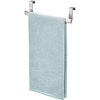 iDesign 60270 Axis Over Door Towel Bar, Small Stainless Steel Towel Rack, Towel Holder for The Home,