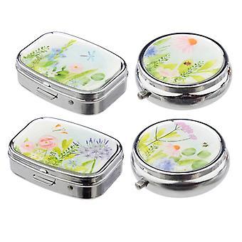 Handy mini scatola di pillole - giardini botanici 4 in dotazione