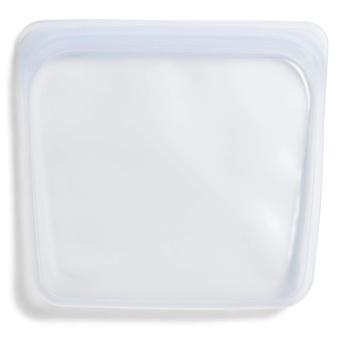 Sac à sandwich en silicone platine de qualité alimentaire réutilisable Stasher pour manger ou cuisiner, congeler et st