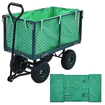 L Garden Cart Liner Green Fabric