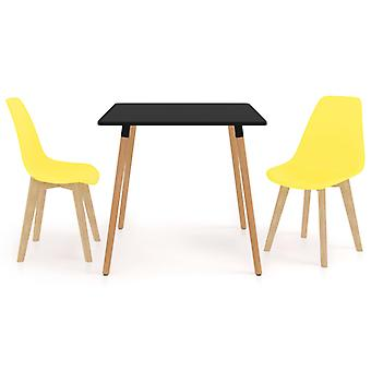 3 Piece Dining Set Yellow