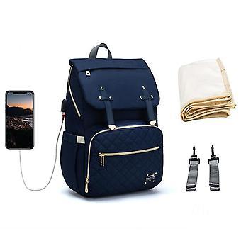 Baby ble taske, rygsæk til mor, Usb Maternity Baby Care, ble sygepleje tasker