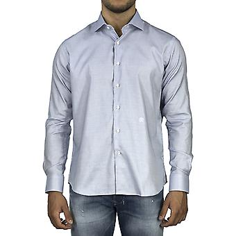 Roberto Cavalli Men Shirt with logo Light Blue