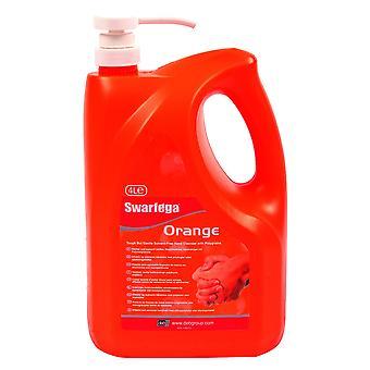 Deb Sor4Lmp 4 Litre Swarfega Orange Pump