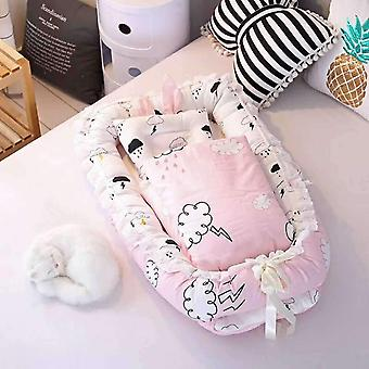 Newborn Baby Portable Crib, Baby Bed Safety, Protection, Quilt Newborn Printing