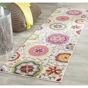 Gerui Manteca Area Rug, Woven Polypropylene Runner Carpet in Ivory / Multi, 62 X 240 cm