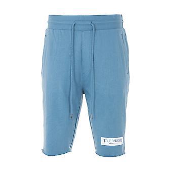 True Religion Box Logo Welt Pocket Sweat Shorts - Bluestone