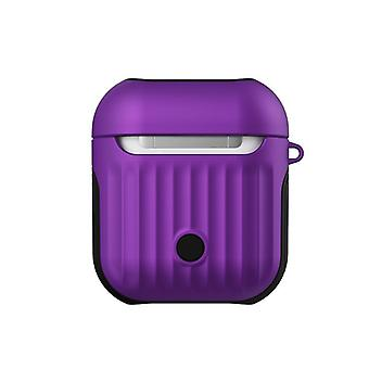 Protective skin case for airpods 1 luggage tpu pc 2-in-1