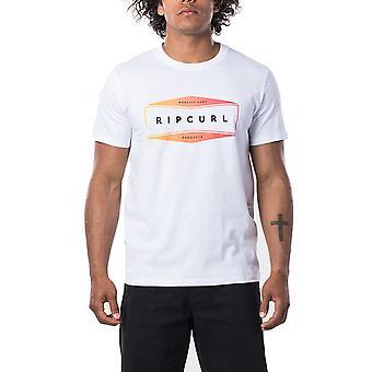 Rip Curl Neon kort ärm T-shirt i optisk vit
