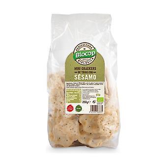 Mini wheat and sesame crackers 250 g