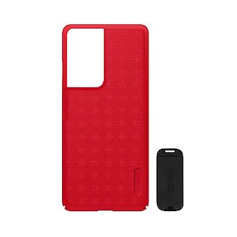 Cover Samsung S21 Ultra Video Holder Super Frosted Shield Nillkin Red