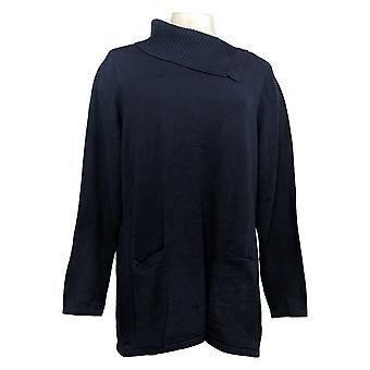 Isaac Mizrahi En direct! Femmes Top 3/4 Manche Coton Bleu L A373288