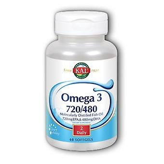 Kal Omega 3 720/480, 60 Gélules