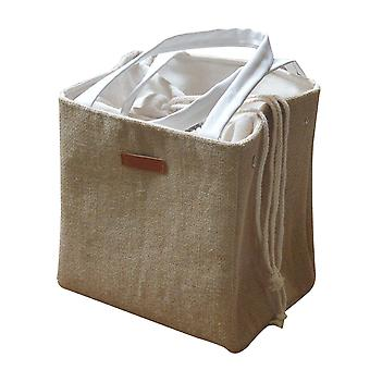Portable Cotton And Linen Aluminum Foil Thickened Meal Box Insulated Bag Lunch Box Bag Adult Student
