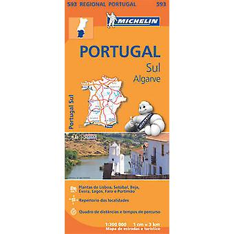 Portugal Sud  Algrave  Michelin Regional Map 593